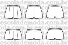 Moldes de boxers e boy-shorts femininas