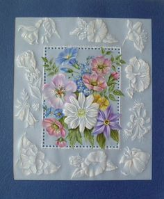 ***THIS IS A BEAUTIFULLY DONE CARD! I DON'T THINK I WOULD HAVE BEEN ABLE TO COMPLETE THIS WITHOUT TEARING IT IN A DOZEN PLACES....BUT I'M WORKING ON IT!***