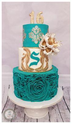 Rosette Ruffle Cake - Cake by Spring Bloom Cakes