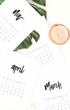 Download your FREE 2018 Printable Calendar >>>