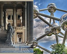 Cicero's welcoming at the Palace of Justice, and the Atomium in Brussels Brussels Belgium, Sport, Palace, Art Nouveau, Fair Grounds, Europe, World, Brussels, Deporte
