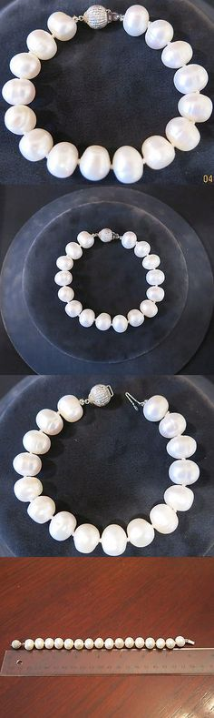 Pearl 164316: New Freshwater Pearl Bracelet, Silver Clasp, 7 3 4 -> BUY IT NOW ONLY: $85 on eBay!