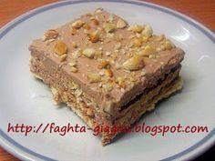 Greek Sweets, Greek Desserts, Greek Recipes, Easy Desserts, Fridge Cake, Sweet And Salty, Sweets Recipes, Cake Cookies, Banana Bread