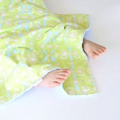 Baby Girl Baby Boy Blanket 20x20 Lime Garden Maze by ablemabel, $18.50