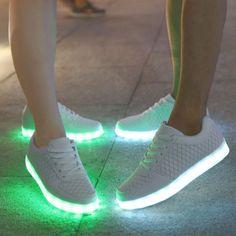 Summer LED Flashing Light Up Luminous Shoes Men Women Dancing Casual Sneakers | eBay