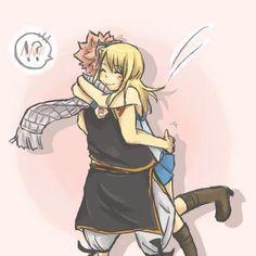 Fairy Tail Natsu x Lucy Hug
