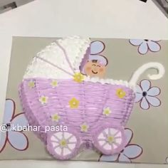 What a lovely cake for a baby shower!  Credit: @ilkbahar_pasta
