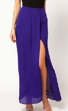Vestido gasa asimétrico-Azul EUR19.67