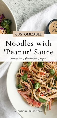 Noodles with peanut sauce you can feel good about! They're healthy, comforting, creamy, & delicious. Plus, they're highly customizable – make them soy-free, gluten-free, plant-based, etc.