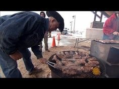On a ranch near the very small town of Seymour, Texas, cowboys fuel up for hard work. Kent and Shannon Rollins are cooks who prepare their cowboy meals-on-wheels on an actual, working chuck wagon. Scott Simon reports on the secrets to cowboy cooking. Kent Rollins, Smothered Steak, Meat Recipes, Cooking Recipes, Campfire Food, Campfire Recipes, Cherry Brandy, Meals On Wheels, Chuck Wagon