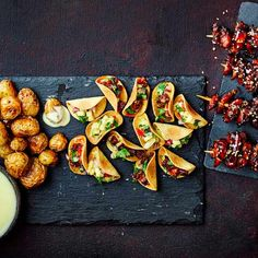 Try our quick and easy canapé recipes. For the easiest ever party snacks try one of our five-minute canapé recipes. Our no cook canapés are simple to make Christmas Nibbles, Christmas Canapes, Christmas Party Food, Xmas Party, Christmas Recipes, Easy Canapes, Canapes Recipes, Snack Recipes, Soup Recipes