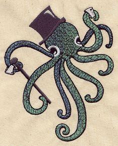 Dapper Octopus design (UT3114) from UrbanThreads.com