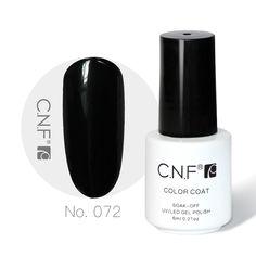 CNF Nail Gel Polish 6ml Black Color CNF072 Uv Soak Off Gel Nail Polish Funny Manicure DIY And Beautiful Gift Of Nail Set