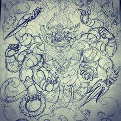 Japanese Tattoo Designs, Best Tattoo Designs, Tattoo Sketches, Tattoo Drawings, Black Tattoos, Body Art Tattoos, Buddha Tattoo Design, Thailand Tattoo, Special Tattoos