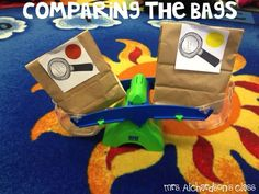 Measuring weight. FUN interactive activities for little learners! My students loved this! #mrsrichardsonsclass