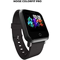 Noise ColorFit Pro Fitness Watch/Smart Watch/Activity Tracker/Fitness Band with Colored Display Waterproof Heart Rate Sensor Call & Notification Alert with Camera and Music Control Features (Black) . Smartwatch Features, Fitness Watch, Fitness Band, Remote Camera, Fitness Tracker, Computer Accessories, Cool Watches, Smart Watch, Black
