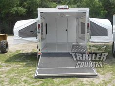 New 2015 7x16 7 x 16 V Nosed Enclosed Trailer Pop Up Pop Out Beds Camping Travel | eBay
