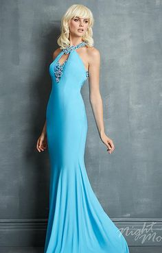 Alternate view of the Night Moves 7067 Striking Beaded Evening Dress image