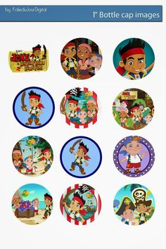 Free Bottle Cap Images: Jack and the Neverland Pirates free bottle cap images
