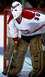 At Least 29 NHL Games October 1975 Montreal Canadiens vs Boston Bruins. October 1975 Montreal Canadiens vs New York. Hockey Goalie, Hockey Teams, Hockey Players, Montreal Canadiens, Hockey Rules, Goalie Mask, Nhl Games, Masked Man, Vancouver Canucks