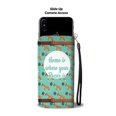 Home Is Where Your Boxer Is Wallet Phone Case - Snappy Creations Galaxy Note 7, Samsung Galaxy Note 8, Boxer Mom, Wallets For Women, Phone Cases, Women's Wallets, Phone Case