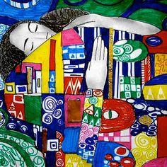 Disegni nello stile di Gustav Klimt