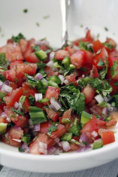 _MG_5864 Fresh Garden Salsa. Made this tonight and it was awesome! I added an extra tomato, some garlic and two of each pepper instead of the one and it was the perfect medium spiced salsa.