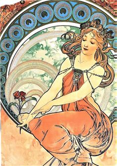 """Alphonse Mucha ~ Click through the large version for a full-screen view (on a black background in Firefox), set your computer for full-screen. ~ Miks' Pics """"Alphonse Mucha"""" board @ http://www.pinterest.com/msmgish/alphonse-mucha/"""