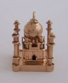 vintage 12K Gold Taj Mahl Charm