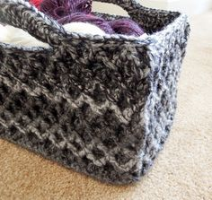 Ravelry: Rectangular Diamond Trellis Basket by Esther Chandler