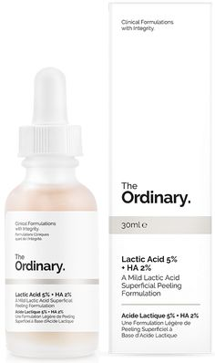 Lactic Acid 5% + HA 2%; no frills packaging, no fancy fragrance, no elaborate marketing ads all contribute to keeping the cost of these formulas down; what you will find in this skincare line are proven ingredients that work.