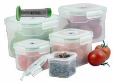 Style Asia HW0165 Vacuum Seal Container Set- Pack of 6 by Style Asia. $149.94. Length: 8. Width: 8. Height: 6.5. Dimensions:. Great Gift Idea.. Lock in freshness with our eleven-piece storage container! Create an airtight, leak-proof barrier with the handheld vacuum pump, high-heat resistance silicone gaskets and lid-locking latches, all specifically designed to seal in freshness! Great for marinades too by saving time in speeding up the flavor-infusion process! Containers nes...