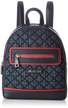 Love Moschino Damen Rucksackhandtasche, Blau (Denim), 9x27x23 cm   Amazon.de  Schuhe   Handtaschen. Джинсовый Рюкзак ... efb0d012f93