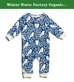 Winter Water Factory Organic Cotton Long Sleeve Jumpsuit, Baby Boys, Girls & Unisex (12M (6-12 Months), Navy & Winter Blue Birds & Berries). The perfect one-piece outfit in our classic prints. Winter Water Factory is a Brooklyn-based design and manufacturing company specializing in screen printed textiles and organic kids' clothing. Fresh, bold, and beautiful textile prints are the signature of Winter Water Factory. Every item is crafted from 100% certified organic cotton and is made in…