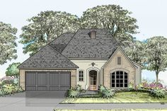 Compact French Country House Plan - 860001MCD - 01 French Country House Plans, French Country Kitchens, French Country Bedrooms, French Country Cottage, Country Style Homes, French Country Style, French Country Decorating, Cottage Decorating, Country Blue