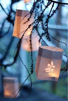 wedding lantern bridesmaid | DIY Wedding Decorations: Paper Bag Lanterns - Bridesmaid.com