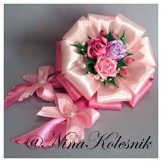 Бант розовый на выписку из роддома в интернет-магазине на Ярмарке Мастеров.