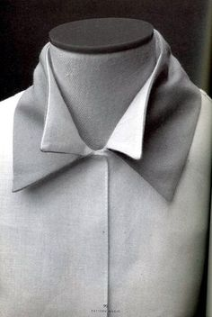 Shirt with double collar detail - creative patternmaking; sewing ideas; fabric manipulation // Pattern Magic by Tomoko Nakamichi by bizz