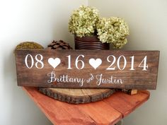 Wedding Date Sign Wedding Name Sign Save by NaturalDesignsByRio