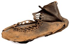 One of ancient Roman shoes excavated by archaeologists at Vindolandia fort