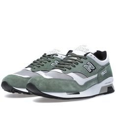 New Balance M1500MWG - Made in England (Green  amp  White) Popular Sneakers, 70cbeb0aa536