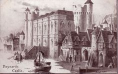 Baynard's Castle, site of Arthur Tudor and Catherine of Aragon's wedding banquet. Baynard's Castle was destroyed in the Great London Fire of 1666.