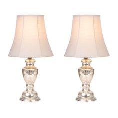 Antique Silver Glass Table Lamps, Set of 2 | Kirklands