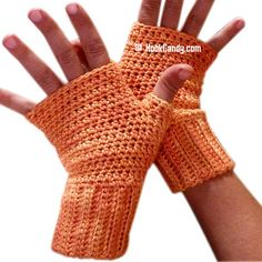 Ravelry: Quick and Easy Fingerless Mitts pattern by Hook Candy