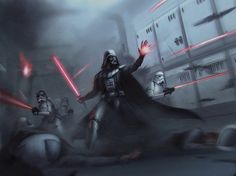 Fifty of the Best Examples of Star Wars fan art Online - Star Wars Theory Anakin Vader, Vader Star Wars, Darth Vader, Star Wars Rpg, Star Trek, Star Wars Pictures, Star Wars Images, Star Wars Concept Art, Star Wars Fan Art