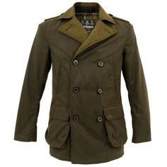 Barbour Shovler Olive Waxed Jacket  by Barbour Clothing