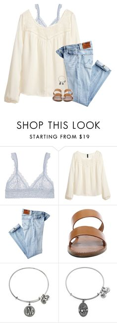 """""""please no promises"""" by hailstails ❤ liked on Polyvore featuring Hanky Panky, H&M, AG Adriano Goldschmied, Steve Madden and Alex and Ani"""