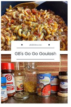 GB's Go Go Goulash - GB's Kitchen Great Recipes, Dinner Recipes, Favorite Recipes, Drink Recipes, Bratwurst, Beef Dishes, Pasta Dishes, One Pot Meals, Main Meals