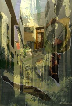 Espiritualidad Contemporánea:  TEMPUS FUGIT acrílico sobre tela de José Vega poema de Moni Indiveri de Vega