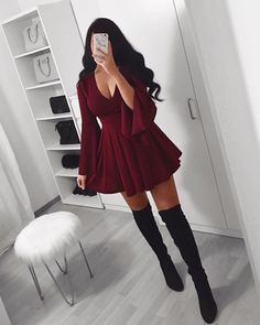 To find out about the Flounce Sleeve Tie Front Surplice Crop Top at SHEIN, part of our latest Blouses ready to shop online today! Cute Swag Outfits, Classy Outfits, Trendy Outfits, Teen Fashion Outfits, Outfits For Teens, Casual Winter Outfits, Fall Outfits, Night Outfits, Short Dresses